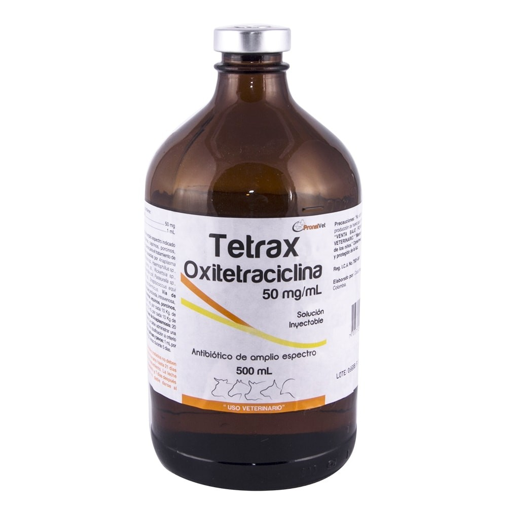 OXITETRACICLINA TETRAX CPH 50 500 ML