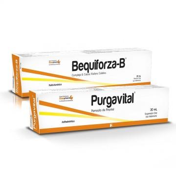 PURGAVITAL 20 ML + BEQUIFORZA B 20 ML.