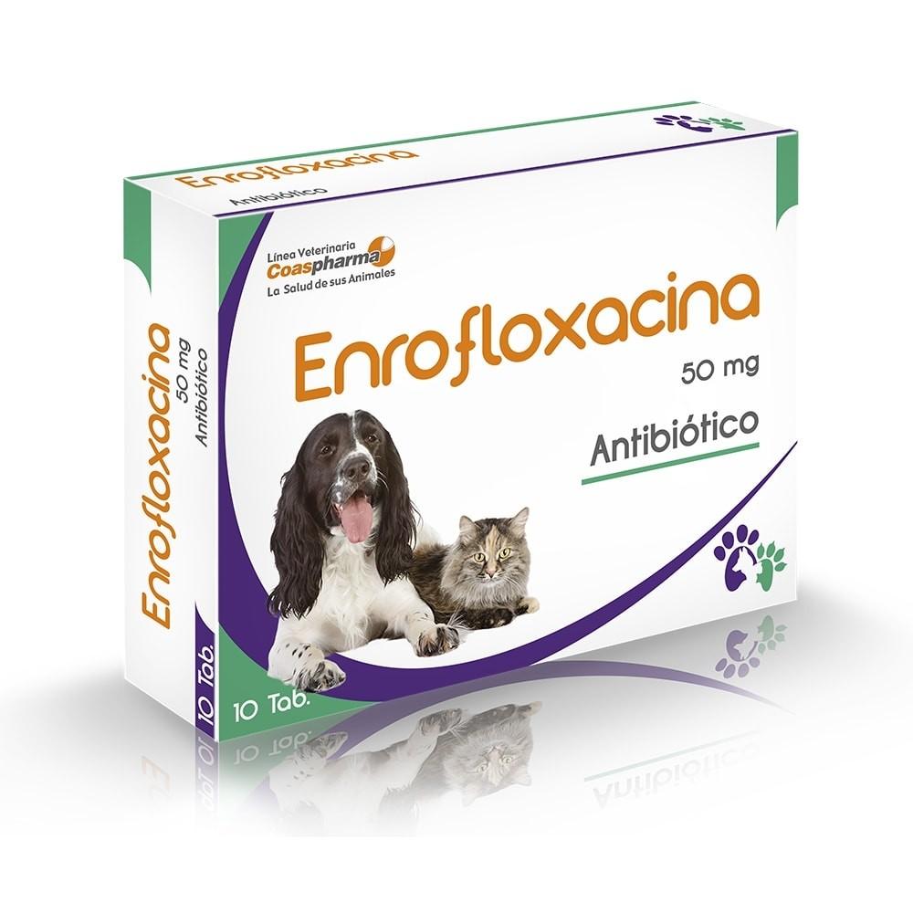 ENROFLOXACINA 50 MG 10 TAB